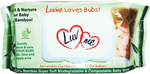 Starwin Social Enterprise, LuvMe Bamboo Wet Wipes - 20 pack