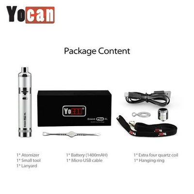 Yocan Evolve Plus XL Vaporizer Packaging Contents Included