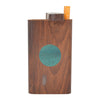 Wooden One-Hitter Dugout Pipe with Green Circle Design
