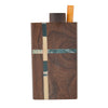 Wooden One-Hitter Dugout Pipe with Dual-Stripe Design