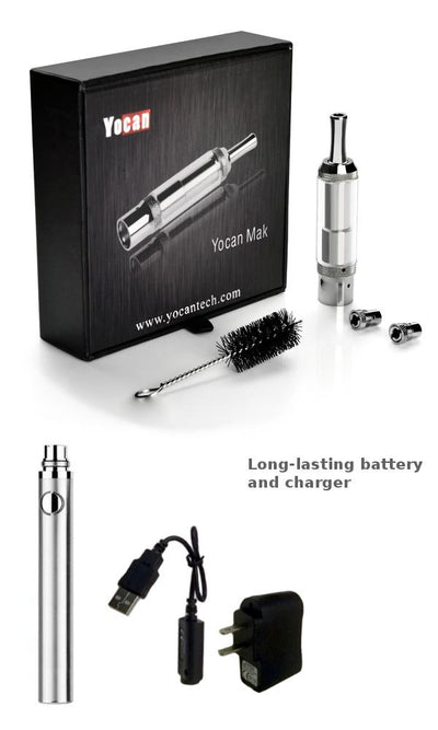 Yocan Mak Dry Herb and Wax Atomizer with 510 Thread Battery and Charger