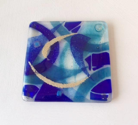Abstract Coaster (Blue)