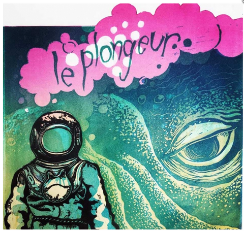 Le Plongeur 3/40 (The Diver) (framed)