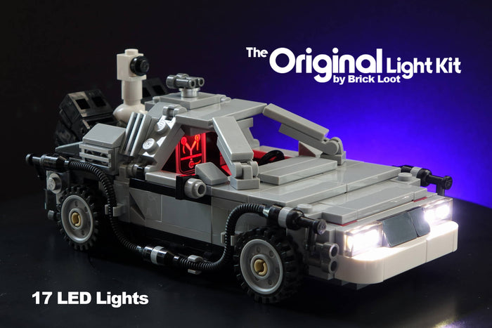 LED Lighting kit for LEGO® The DeLorean time machine 21103