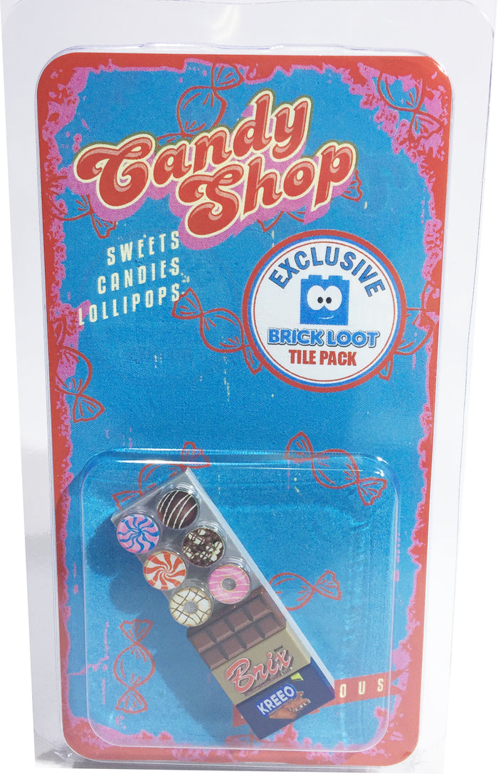 Brick Loot Exclusive Candy Shop Custom LEGO® Tile Pack LIMITED EDITION