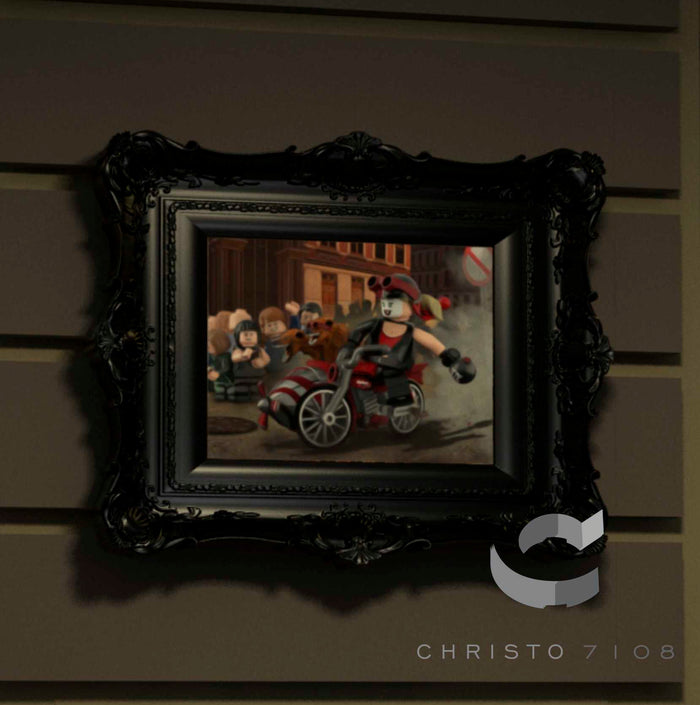 Christo Custom Fine Art Brick Painting  - Harley Quin - LIMITED EDITION