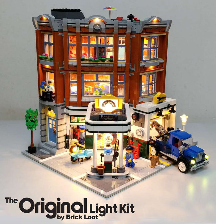 LED Lighting kit for LEGO Corner Garage 10264