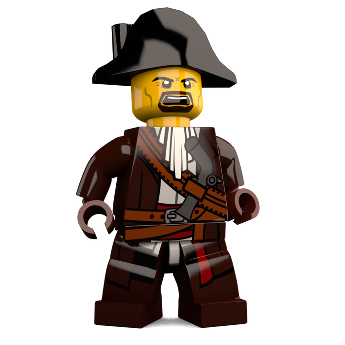 Brick Loot Exclusive James Brickster Pirate Custom LEGO® Minifigure LIMITED EDITION