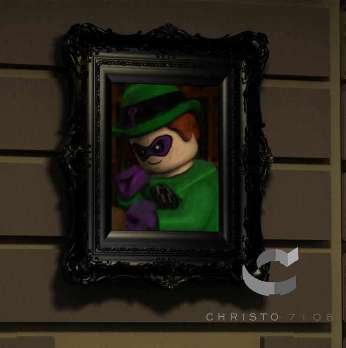 Christo Custom Fine Art Brick Painting  - Riddler - LIMITED EDITION