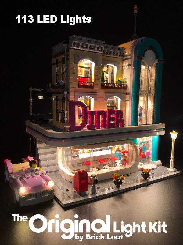 LED Lighting kit for LEGO Downtown Diner 10260