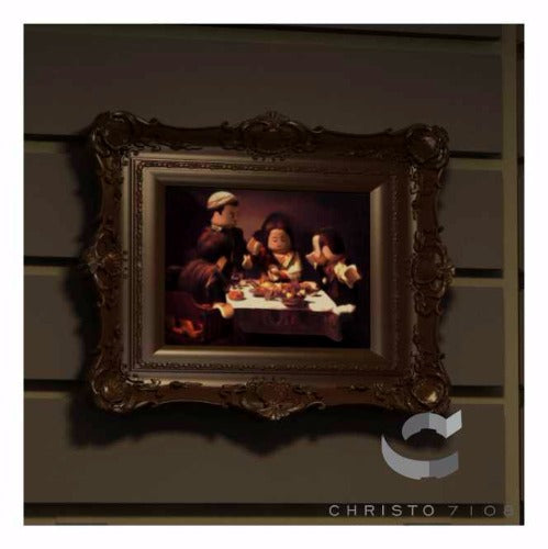 Christo Custom Fine Art Brick Painting  - The Supper at Brickhaus Painting - LIMITED EDITION