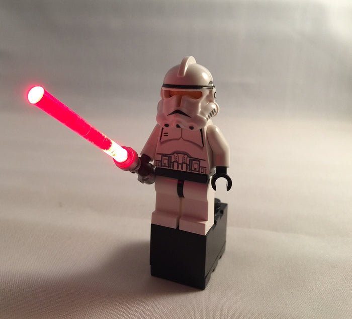 LED Lightsabers - Red, Green, Blue, and Limited Edition Purple fits LEGO Figs