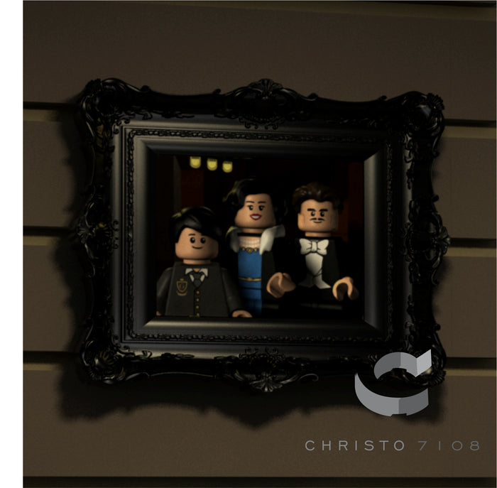 Christo Custom Fine Art Brick Painting  - Wayne Family - LIMITED EDITION