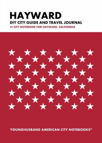 Hayward DIY City Guide and Travel Journal by Younghusband American City Notebooks (ProductiveLuddite.com)