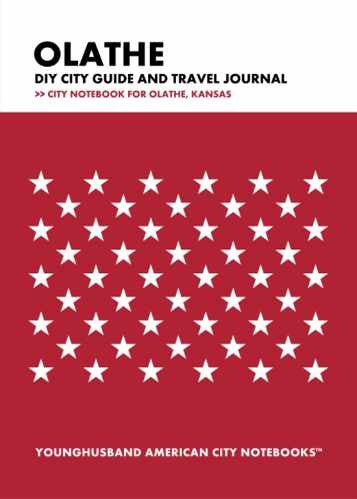 Olathe DIY City Guide and Travel Journal by Younghusband American City Notebooks (ProductiveLuddite.com)
