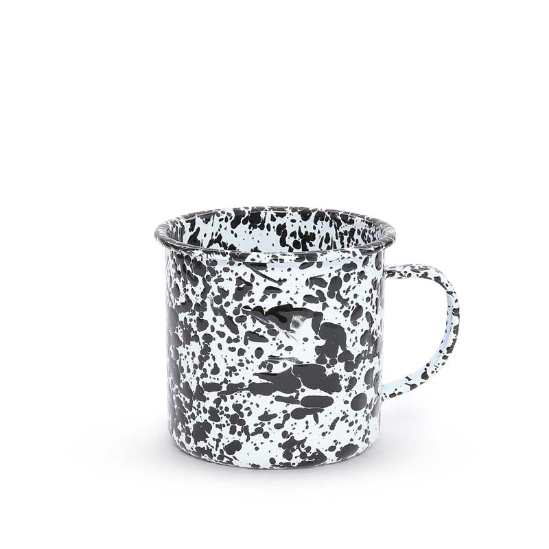 Enamel Mug, 24-Ounce, Splatterware Collection | more colors Enamelware Crow Canyon Home - ROVE AND SWIG