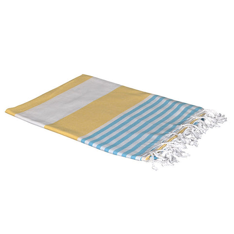 Boreas Turkish Cotton Towel - Yellow Blue