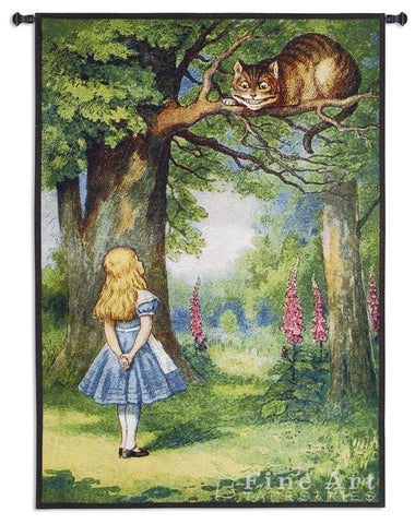 Alice And The Cheshire Cat Wall Tapestry