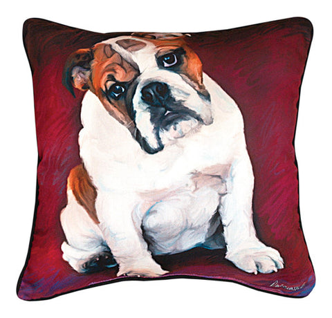 Bulldog Baby Pillow by Robert McClintock -