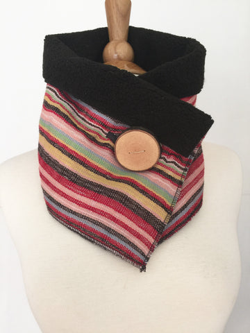 Candy Stripe UpCycled Neckwarmer One-of-a-Kind -   - 1