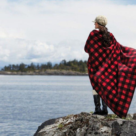 Red-Black Buffalo Check Velura™ Cabin Throw|Decorating Option