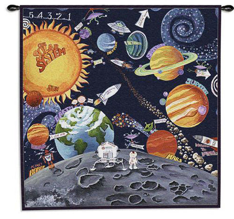Solar System Wall Tapestry by Sapna©