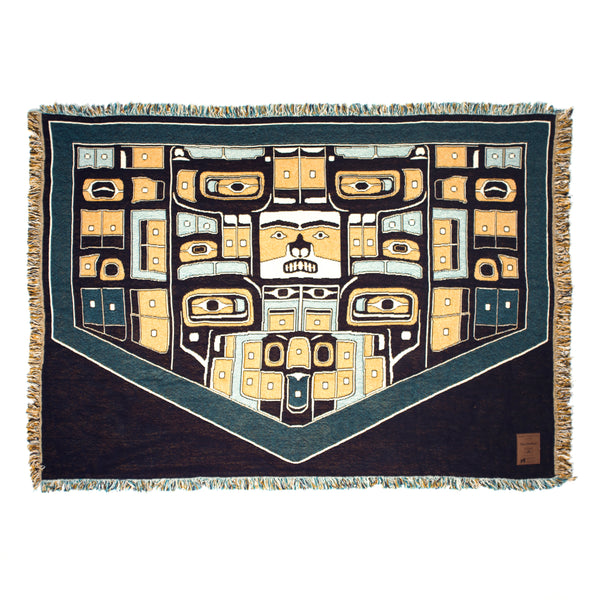 The Chilkat Woven Cotton Throw Blanket - 3 Layer Throw