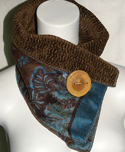Rapsody In Blue Upcycled Neckwarmer - One-of-a-Kind