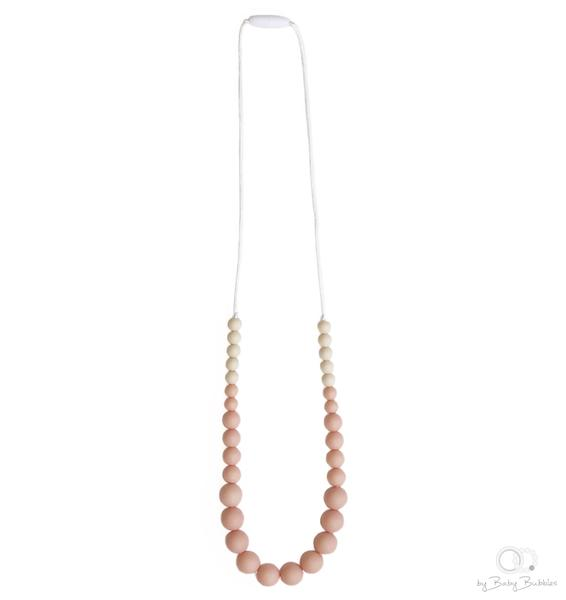 Simple Peach Teething Necklace