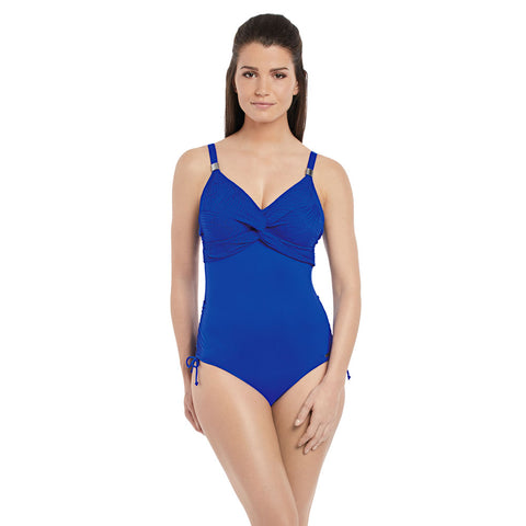 Ottawa Underwired Twist Front Swimsuit in Pacific