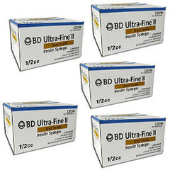 BD Ultra-Fine Insulin Syringes Short Needle 31g 1/2cc 5/16in 90/bx Case of 5