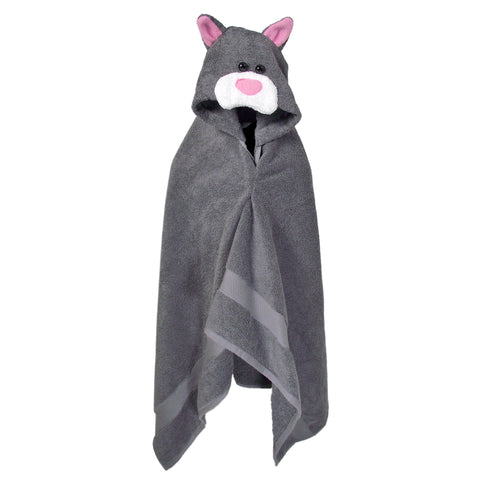 Knotty Kid - Hooded Towel Kitty Cat Bath Towels for Children and Adults
