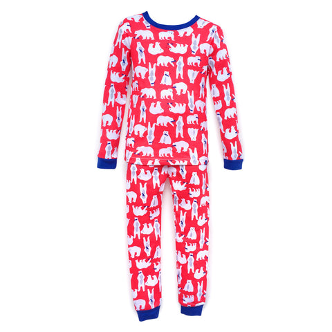 Pajamas, Children's PJs Cotton Jammies Set – Polar Bears