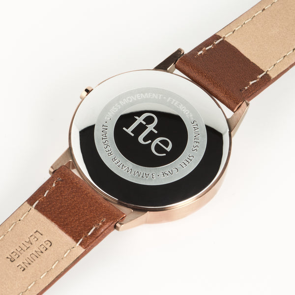 Rose Gold & Light Brown Tan Womens Watch - Freedom To Exist - Luxury Unbranded Minimalist Watches