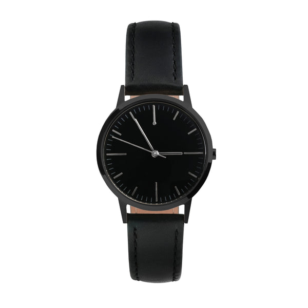 All Black - 30mm Womens small no logo vintage inspired minimalist swiss watch -  Freedom To Exist