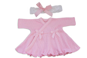 Preemie Dress + Headband // Pointelle-NICU Dresses-UniqueKidz