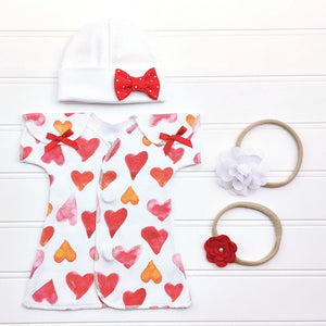 Preemie Fit + Flare Dress Set // Hearts-Nicu Dress-UniqueKidz