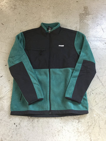 Pitcrew fleece Jacket Black/Green