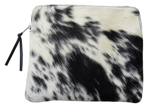 SORRENTO SUNSET CASE IN BLACK & NATURAL COW HIDE