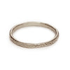 Engraved ladies wedding band from Ruth Tomlinson, handmade in London