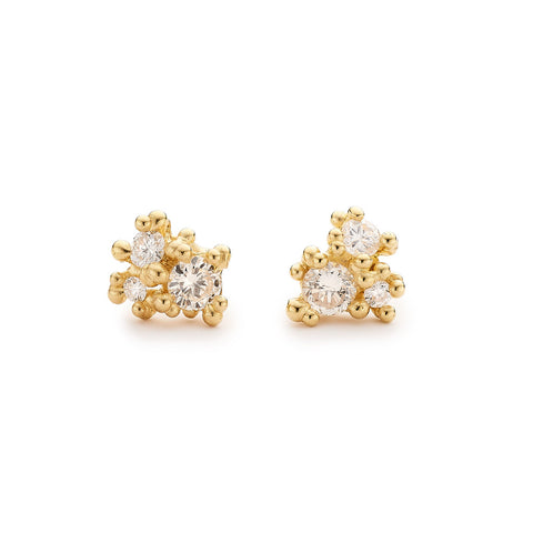 White diamond studs from Ruth Tomlinson, handmade in London