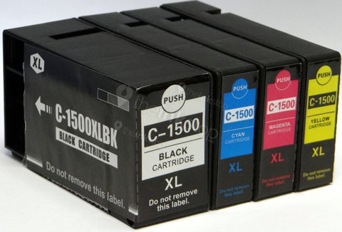 1 FULL SET Compatible CANON PGI-1500XL (BK,C,M,Y) HIGH CAPACITY Ink Cartridge
