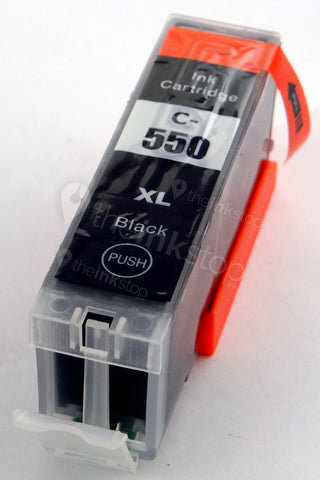 Compatible CANON PGI-550PGBK XL BLACK Ink Cartridge (CHIPPED+INK LEVEL)