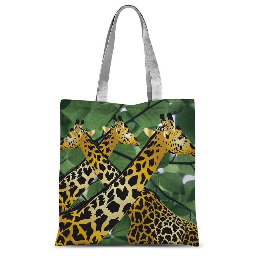 Three Golden Giraffes Sublimation Tote Bag