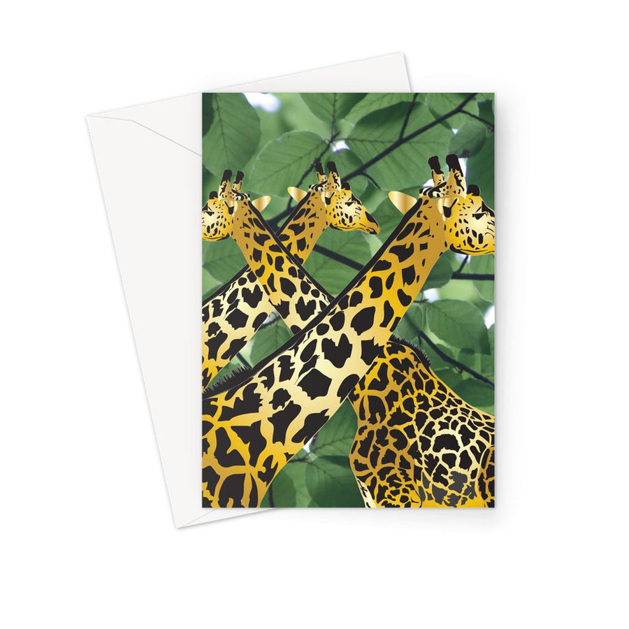 Three Golden Giraffes Greeting Card