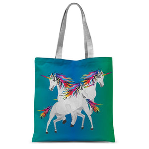 Rainbow Unicorns Sublimation Tote Bag