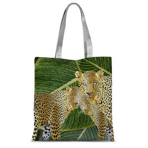 THREE GOLD LEOPARDS Sublimation Tote Bag