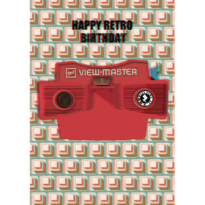 Zapz BIRTHDAY Retro 3D Viewmaster Personalised Augmented Reality Greetings Card