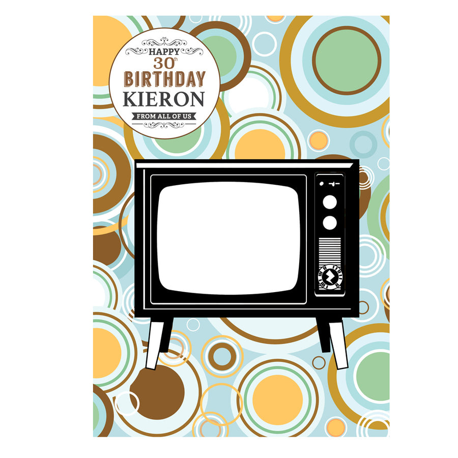 Zapz Birthday Card Retro Television TV Personalised Video Augmented Reality Greetings