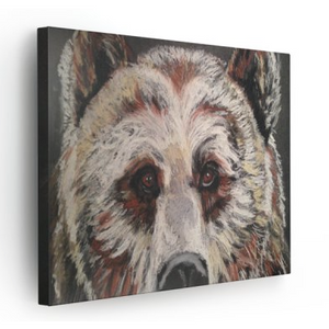 Horizontal Canvas - Beautiful Big Brown Bear